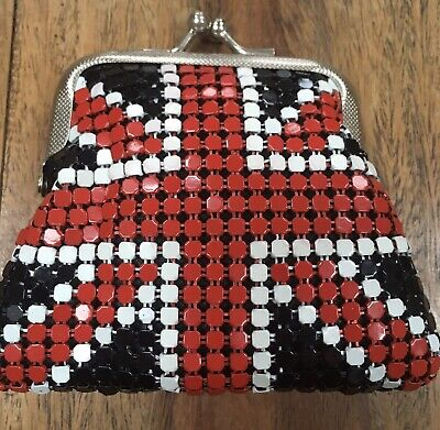 $6.95 • Buy Union Jack Metal Chain Mail Coin Purse 60s Mod Scooter
