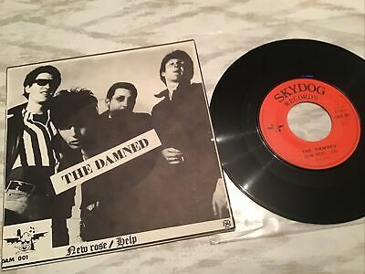 Punk Vinyl Records The Damned New Rose French Sky Dog • 23£
