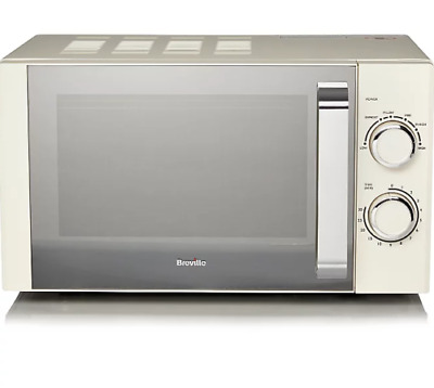 Breville 800W 17L Manual Microwave Cream Fast Dispatch Fast Delivery UK Seller  • 74.99£