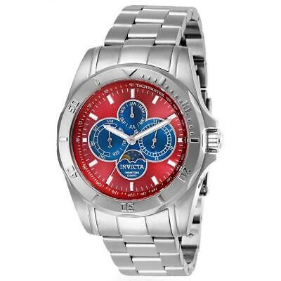 Invicta Specialty 28596 Men's Red Round Analog Day/Date Month Moon Phase Watch • 16.46£