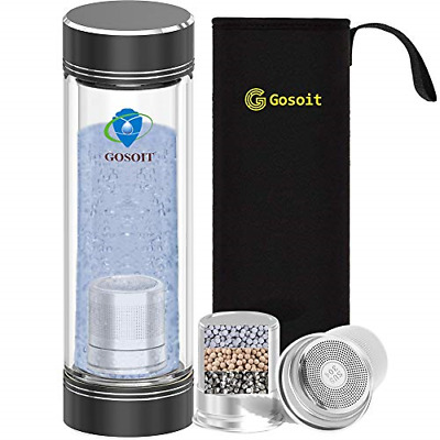 GOSOIT Hydrogen Alkaline Water Bottle Hydrogen Water Maker Machine With 1PK Make • 34.43£