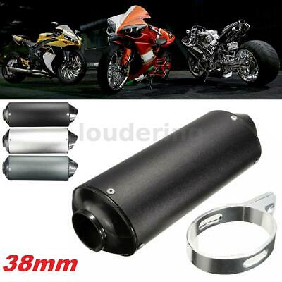 £13.85 • Buy 3 Color 38mm Universal Exhaust Muffler Pipe For 125 150 160cc Dirt Pit Bike