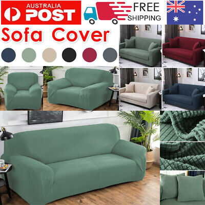 AU19.45 • Buy 1 2 3 Seater Couch Cover Sofa Covers Recliner Lounge Protector Slipcovers