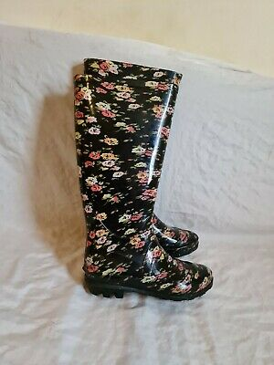 Womens Ladies Calf Festival Wellies Waterproof Rain Wellington Boots • 5£