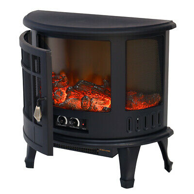 3D Fire Log Burning Flame Fireplace Electric Wood Stove FireHeater Thermal 1800W • 139.95£