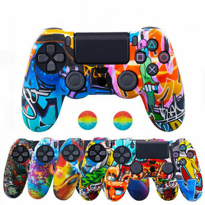 AU12.59 • Buy PS4 Silicone Controller Case Camo Graffiti Skin Cover For PlayStation 4 /Slim