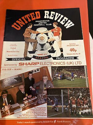 Manchester United Football Programmes 1987 Signed By 4 Players • 0.99£