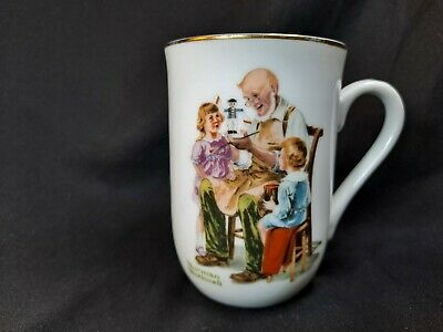 $ CDN12.07 • Buy 1982 Norman Rockwell Museum Collectible Coffee Tea Cup Mug The Toy Maker NEW