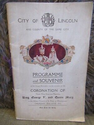 City Of Lincoln Programme And Souvenir For Coronation Of King George V 1911 • 9.99£