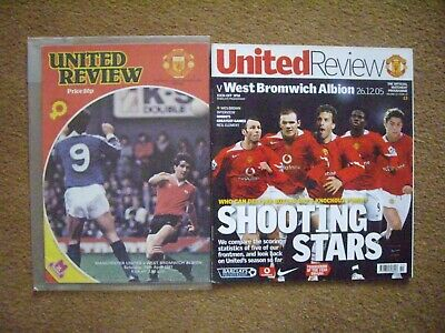 Manchester United V West Bromwich Albion 2 Programmes • 1.20£