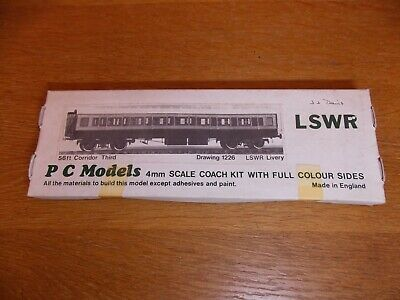 PC MODELS KIT For LSWR 56' CORRIDOR ALL 3rd COACH Drg 1226 LSWR Livery 00 Gauge • 35£