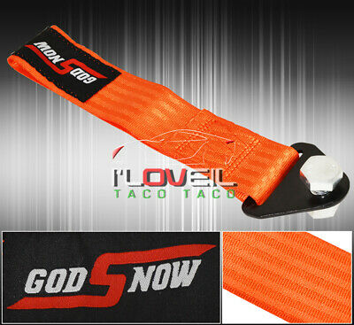 $ CDN11.35 • Buy God Snow Vip 273mm Racing Pulled Towing Cable Autox Front Rear Orange Miata Rx7