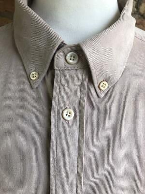 *PAUL SMITH UK 42  Chest Beige Button-Down Collar Corduroy Tailored Fit Shirt* • 8.99£