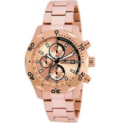 Invicta Specialty 17752 Men's Round Rose Gold Tone Chronograph Date Analog Watch • 7.67£