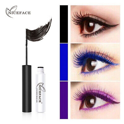 NICEFACE 7 Colors Mascara Waterproof Charming Longlasting Thick Eyes Makeup • 3.99£