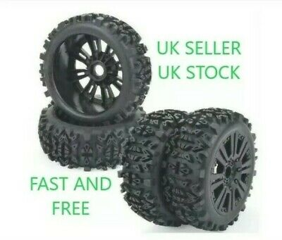 😀1/8 Scale Rc Car Buggy Wheels Rims & Tyres Tires Hsp Hpi Hobao😀 • 30.99£