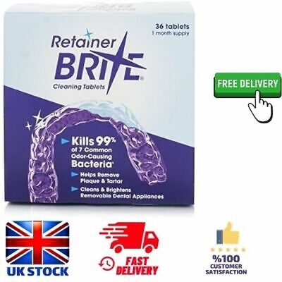 Retainer Brite Cleaning Tablets Kills %99 Bacteria Removes Plaque And Tarter New • 10.39£