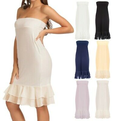 Dress Skirt Top Grace Karin Two Way Strapless Chiffon Comfy Summer Casual • 16.39£