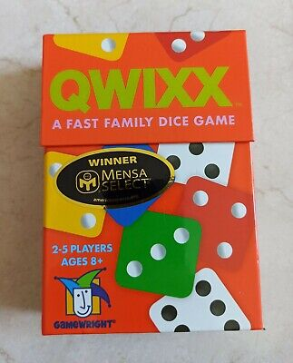 $ CDN13.89 • Buy Qwixx Fast Family Dice Game Gamewright GWI 1201D Roll & Write