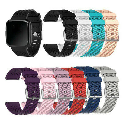 $ CDN4.20 • Buy For Fitbit Versa 2 1/Lite Wrist Band Breathable Sport Soft Silicone Watch Strap