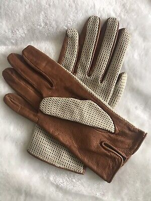 Dent Fownes Ladies String Back Leather Driving Gloves~size 7~unlined • 8.99£
