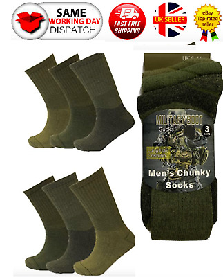 £8.99 • Buy Men's Army Military Combat Boot Hiking Padded Thermal Warm Thick Socks Size 6-11