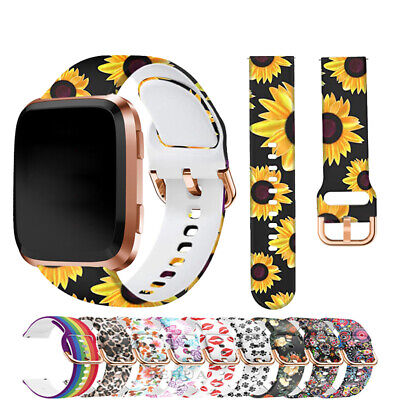 $ CDN4.96 • Buy For Fitbit Versa / 2 Lite Silicone Wrist Strap Wristband Replacement Watch Band