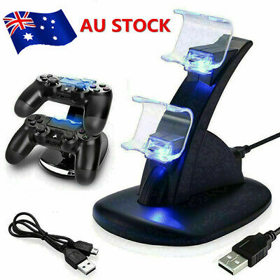 AU12.65 • Buy For Playstation 4 PS4 Controller Charger Dock Dual Stand Charging Station Pad
