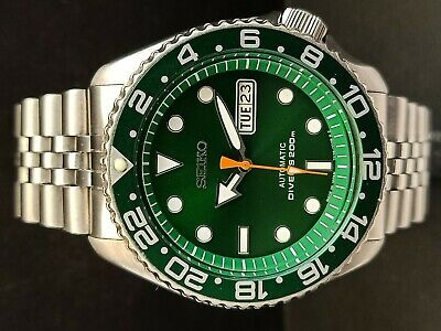 $ CDN130.35 • Buy Seiko Diver 7s26-0020 Skx007 Sunburst Green Mod Automatic Watch 820617