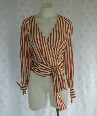AU25 • Buy Country Road Striped Wrap Top SzS
