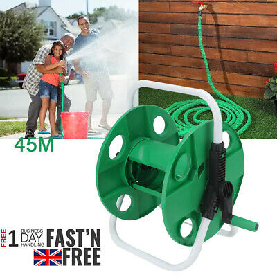 45M Portable Wall Mounted Water Hose Pipe Reel Free Standing Garden Pipe Stand • 13.69£