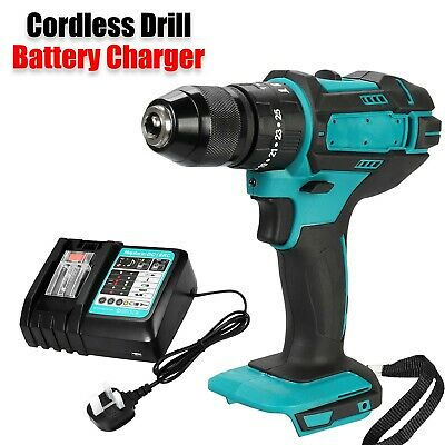 18V Cordless Hammer Impact Drill Driver &Rapid Battery Charger For Makita Li-Ion • 45.99£