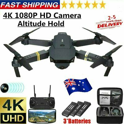 AU49.99 • Buy E58 RC Drone 4K HD Wide Angle Camera WiFi FPV Drone RC Quadcopter W/3 Batteries