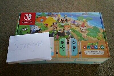 AU559 • Buy Nintendo Animal Crossing Switch Console With Game(Japan Version)(No Joycons)