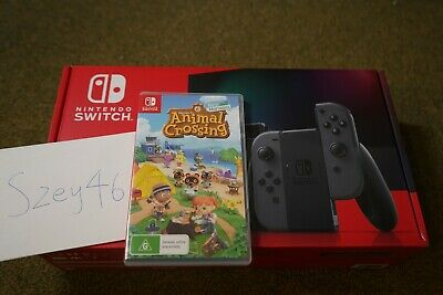 AU469 • Buy Nintendo Switch Console Grey With Animal Crossing Game! In Hand! Fast Ship!