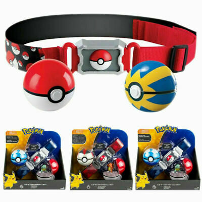 Pokemon Clip N GO Carry Poke Ball Toys Cross Belt Game Kids Figure Pokeball UK • 13.48£