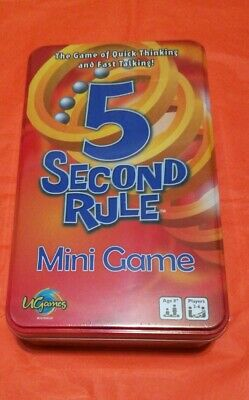 AU15.99 • Buy U Games 5 Second Rule Mini Game 2-6 Players Age 8+ New And Sealed