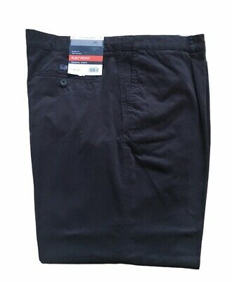 BHS Atlantic Bay Classic Fit Pleat Front Cotton Chino W44 L31 Navy BNWT • 14.99£