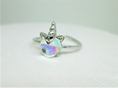 £3.50 • Buy Unicorn Horn & Colour Catching Stone  Child / Young Adult  Adjustable Ring