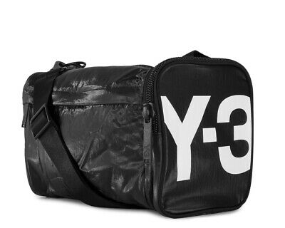 AU133.51 • Buy New Men's Accessories Y-3 Yohji Yamamoto Mini Gym Bag - Black & Core White