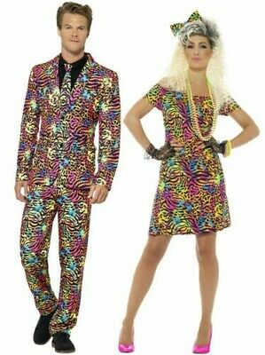 AU49.77 • Buy 80s Fancy Dress Costume Party Animal Neon Rave Womens Mens Outfit Suit Adults