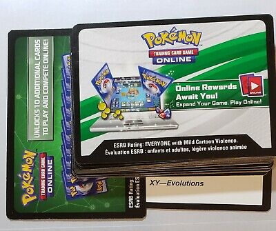 $7.99 • Buy Pokemon Online Qr Code Cards (25 Card Lot) - Xy Evolutions