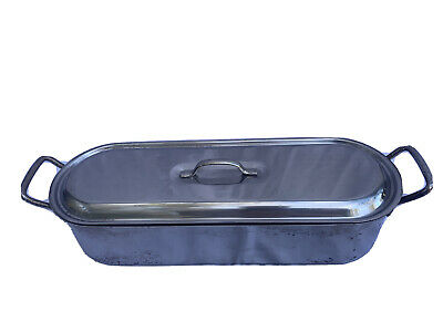 $29.99 • Buy FISH POACHER Inox Italy 18C V.I.S. Stainless Steel Lid Tray 18