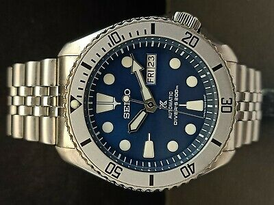 $ CDN90.29 • Buy Seiko Diver 7s26-0020 Skx007 Blue Prospex Mod Automatic Watch 7d1107