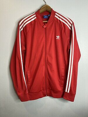 $ CDN38.14 • Buy ADIDAS TRACK JACKET Superstar Red White SIZE MENS SMALL RARE
