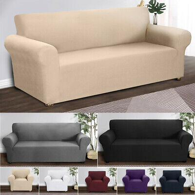 1/2/3/4Seater Spandex Sofa Covers Pillow Case Stretch Couch Slipcover Protector • 17.29£