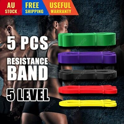 AU29.99 • Buy Heavy Duty Resistance Yoga Bands Loop Exercise Fitness Workout Band Gym