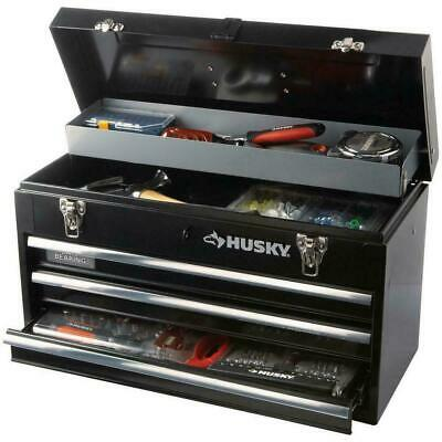 View Details 20 Inch 3-Drawer Small Metal Portable Tool Box With Drawers And Tray Heavy Duty • 58.10$