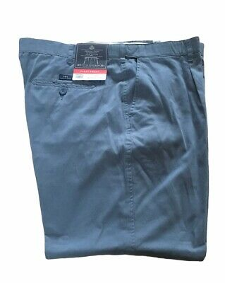 BHS Atlantic Bay Classic Fit Pleat Front Cotton Chino 44R Blue BNWT • 14.99£