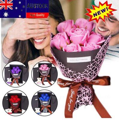 AU15.10 • Buy Pop 7Pcs Rose Scented Soap Roses Bouquet Valentines Day Flower Gift Box For Her